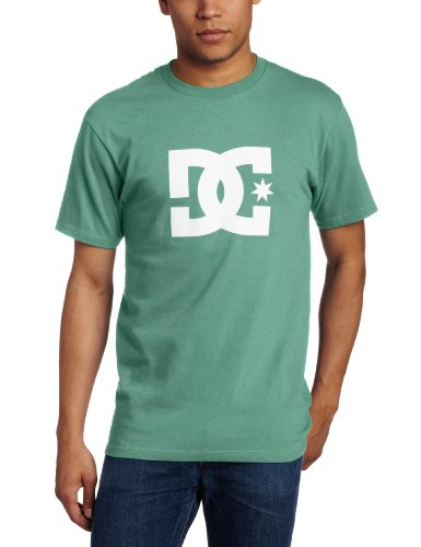 DC Shoes Star Short-Maglietta per uomo, colore: scuro Nero/Giallo, UOMO, DC SHOES STANDARD S/S TEE T SHIRT BLACK/WHITE, verde ( ANTIQUE GREEN ), XXL