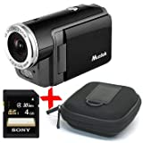 Mustek DV316L black mini Digital Video Camera/ Camcorder +4GB +Case Bundle
