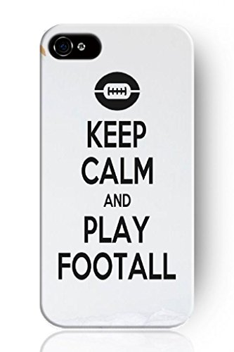 Sprawl New Fashion Design Hard Skin Case Cover Shell For Mobile Phone Apple Iphone 4 4S 4G--Keep Calm And Play Football front-1075727