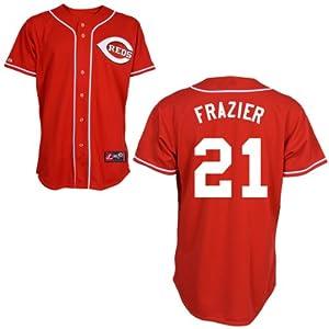Todd Frazier Cincinnati Reds Alternate Red Replica Jersey by Majestic by Majestic