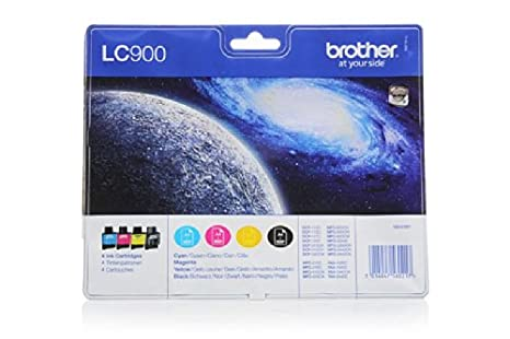 Brother Fax 1940 C - Original Brother LC-900 - Cartouche d'encre Multipack (BK,C,M,Y) 4 pieces -