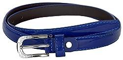 TUEUR Women's Synthetic Belt (TU-2021, Blue, 26)