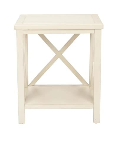 Safavieh Candence Cross Back End Table, White