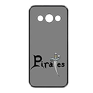 Vibhar printed case back cover for Samsung Galaxy A3 PiratesGrey