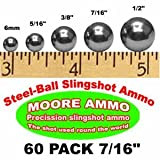 60 pack 7/16' Steel-Ball slingshot ammo (12 oz)