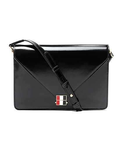 wiberlux-thom-browne-womens-real-leather-envelope-flap-bag-one-size-black