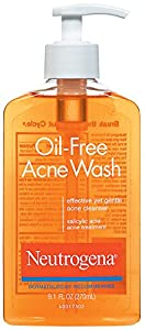 Neutrogena Oil-Free Acne Wash, 9.1 Fluid Ounce (Pack of 3)