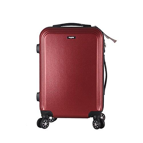 Valigia bagaglio 71cm 80L - Sunydeal - ABS ultra leggero - 4 ruote - Borgogna - Garanzia 1 anni