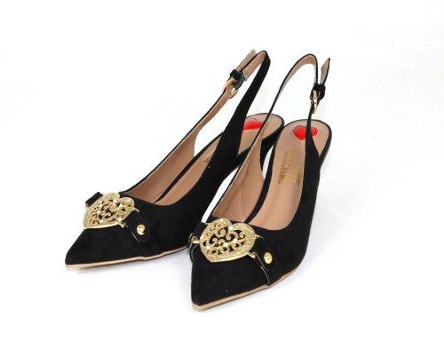 Moschino, Scarpe con cinturino alla caviglia donna, Nero (nero), 38