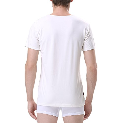 David archy men 39 s 3 pack bamboo fiber crewneck short for Bamboo fiber t shirt