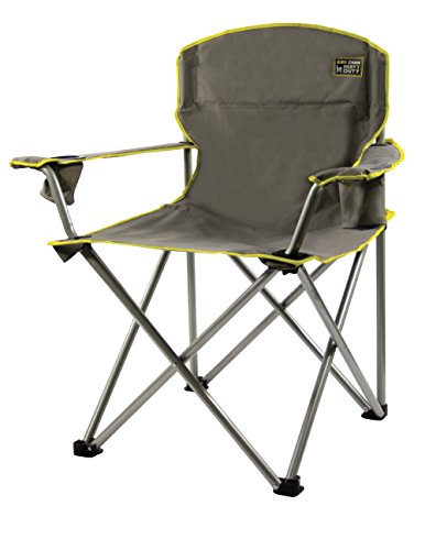 Heavy Duty Folding Camp Chair - Grey