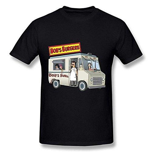 Brand New- AICH Men's Bob's Burgers Bus Food Truck Gang Black T Shirt