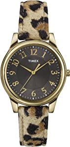 Timex Women's T2P0909J Analog Display Analog Quartz Yellow Watch