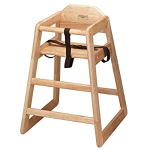Wooden High Chair Natural | Infant Highchair, Childrens High Chair, Child Seat, Baby Seat - Ideal for Commercial or Domestic Use by drinkstuff