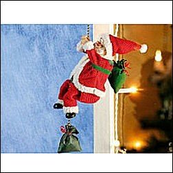 Kletternder Weihnachtsmann 'Santa Crawl'