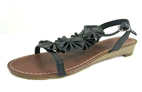 Barricci , Damen Sandalen Schwarz schwarz, Schwarz - schwarz - Größe: 5 UK