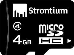 Strontium 4GB MicroSDHC Card (Class 4)