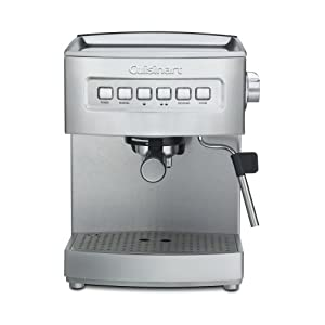 Cuisinart EM-200 Programmable 15-Bar Espresso Maker, Stainless Steel