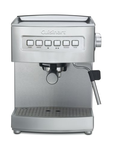 Cuisinart EM-200 Programmable 15-Bar Espresso Maker, Stainless Steel Discount