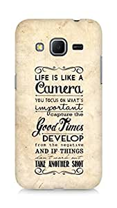 AMEZ life is like a camera Back Cover For Samsung Galaxy Core Prime