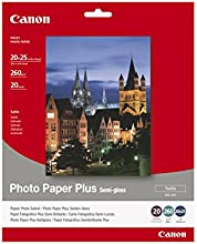 Comprar Canon SG-201 - Papel fotográfico plus (260g/m2, 20 x 25 cm, 20 hojas, semi brillante, acabado satinado)