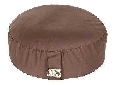 Meditationskissen Glückssitz Basic mahagoni, Ø 33 cm x 15 cm, Bezug und Inlett 100% Baumwolle, Bezug und Inlett maschinenwaschbar bis 30º C