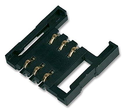 Connecteurs-PC Board-Lecteur de carte SIM 1,6mm 6broches 13-Lot de 5-9162006206175-Lot de 5