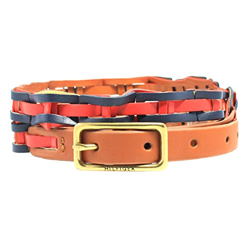 Tommy Hilfiger Women's Link Braid Belt, Brown/Navy (Small) (Belt Tommy Hilfiger Women compare prices)