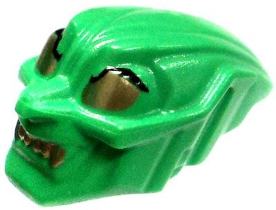 LEGO LOOSE Accessory Green Goblin Mask with Gold Eyes & Teeth