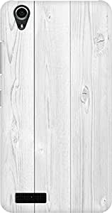 AMEZ designer printed 3d premium high quality back case cover for Lenovo A3900 (wood white)