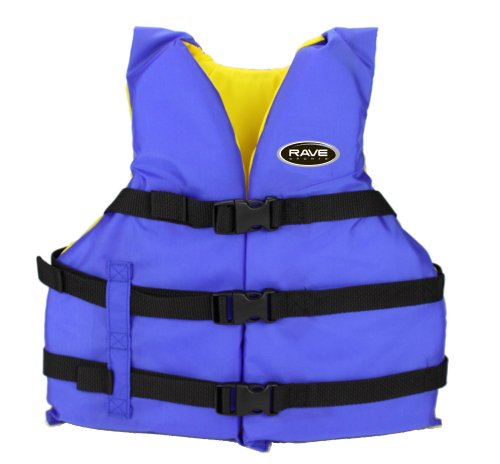 Rave Adult Nylon Personal Floatation Device (Blue/Yellow)