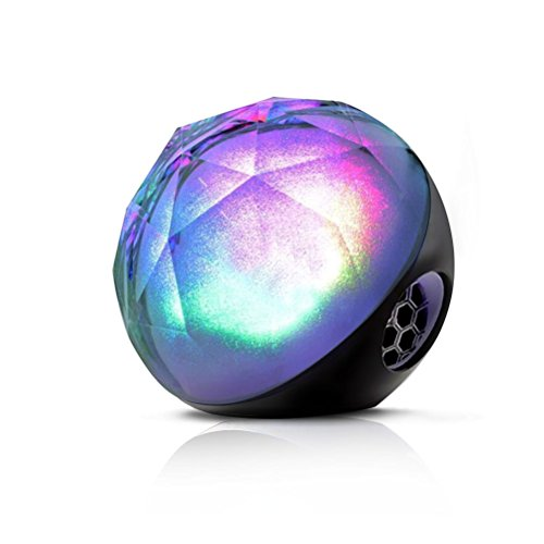 Airmate ® Wireless Speaker, Portable LED Color Ball 10 Hours Stereo Bluetooth Speaker with Remote Control/Support TF Card for Tablet, Ipad, Iphone, Samsung, Laptop And Other Music Players (Black)