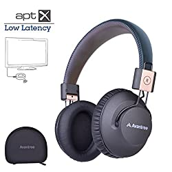 Avantree Audition Pro Bluetooth V4.1 Wireless Headphone with superior APT-X Lowe Latency Audio Technology and NFC 40 Hours Music, Bass Boost with 3.5mm Audio jack for TV, Smarphone, Tablet, PC, Gaming device etc.