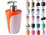 Soap Dispenser Wide choice of beautiful soap dispenser Stainless Steel Pump Easy to clean (Fresh Orange)