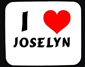 Amazon.com : I Love Joselyn custom mouse pad (first name/surname