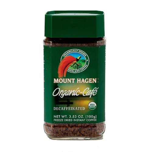 Mount Hagen Organic Freeze Dried Instant Decaffeinated Coffee, 3.53-Ounce Jars (Pack of 6) (Dehydrated Coffee compare prices)