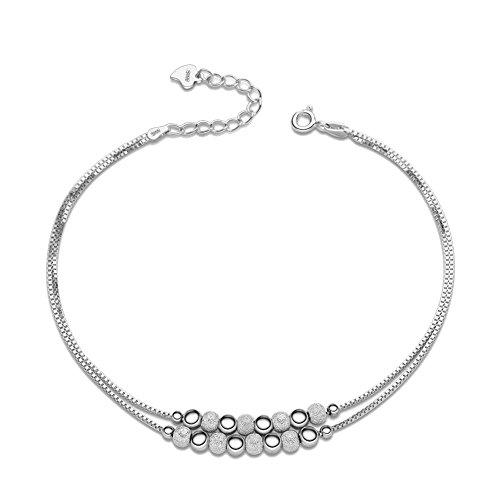 semplice-moda-elegante-bling-bling-argento-palla-pendente-opaco-ragazze-donne-ciondolo-cavigliera