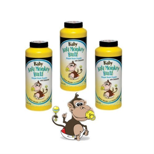BABY Anti Monkey Butt Powder 6oz *3 Pack* and Tooth Tissue Sample