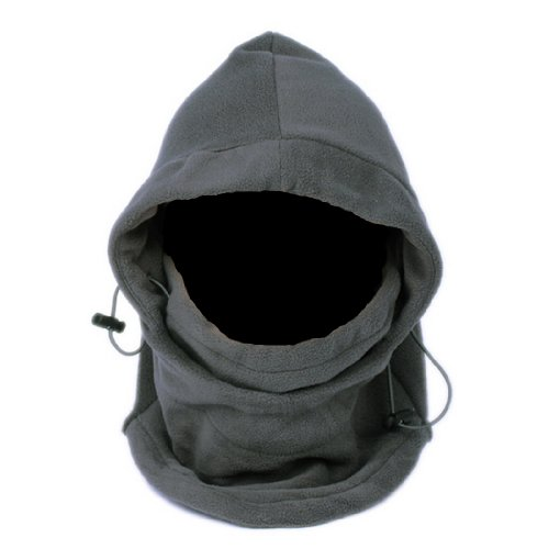 EOZY Multipurpose Use 6 in 1 Thermal Warm Fleece Balaclava Hood Police Swat Ski Bike Wind Stopper Full Face Mask Hats Neck Warmer Outdoor Winter Sports Snowboard Proof (Grey)