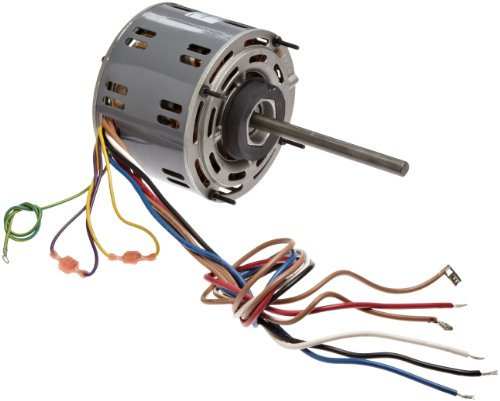 """Fasco D721 5.6"""" Frame Open Ventilated Permanent Split Capacitor Direct Drive Blower Motor With Sleeve Bearing, 1/4-1/5-1/6Hp, 1075Rpm, 115V, 60Hz, 4.8-3.3-2.6 Amps"""