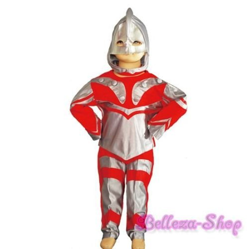[Ultraman Hero Kid Boy Halloween Fancy Party Costume Set w/ Mask Size 2-3T FC018] (Original Ultraman Costume)