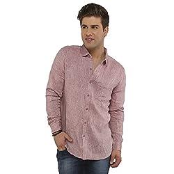 Attila Men's Casual Shirt (3306212761_Pink_40)