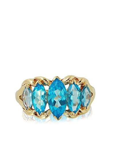 Fashion Strada 10K Gold Marquise Topaz Ring