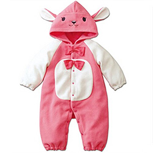 Froomer Baby Kids Rabbit Bear Clothes Fleece Romper Outfits Set Hooded Coat