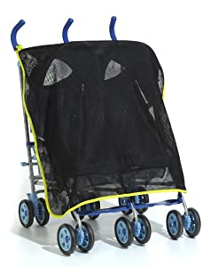Content&Calm Protectishade Buggy Stroller Shade and Insect Mesh, Black/Green