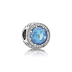 Pandora 791725nbs Sky Blue Radiant Hearts Charm