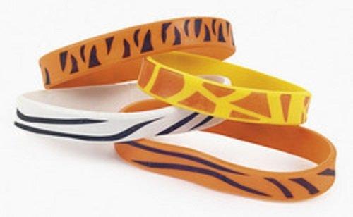 Animal Print Rubber Bracelets (1 dz)