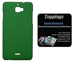 Toppings Hard Case Cover With Screen Guard For Coolpad Dazen 1 - Green