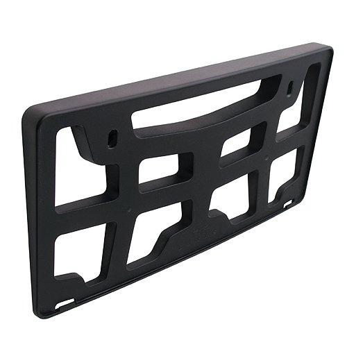 カーメイト(CARMATE) ナンバープレートをボディと調和 前方傾斜角度5度のナンバーベース フロント用 ブラック LS366