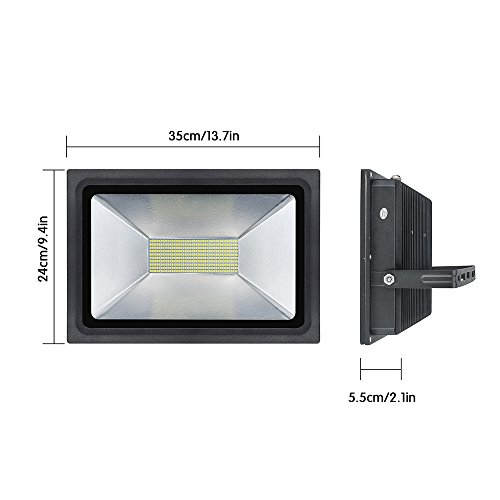 Solla 100W LED Flood Lights Outdoor Security Lights Super